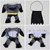 Pet Cat Dog Batman Costume Warm Outfit Clothes Funny Party Fancy Dress,Asian size