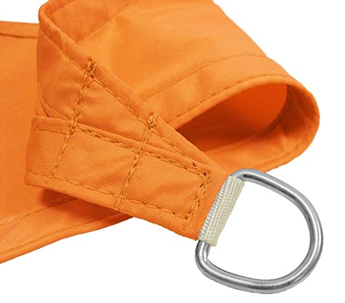 Windscreen4less 12'x12'x12' Waterproof Woven Sun Shade Sail Orange