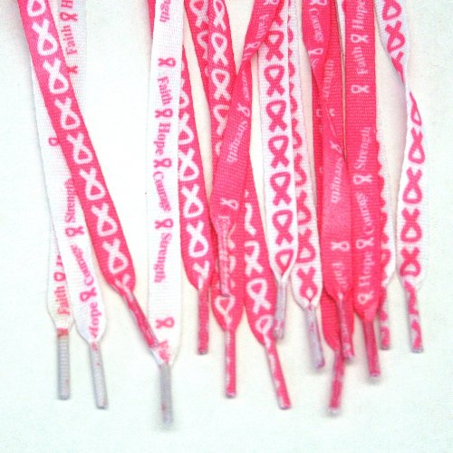 Breast Cancer Awareness Shoelaces : two pair - 1
