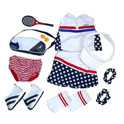 """Tennis Star Outfit. Fits 18"""" Dolls Like American Girl®"""