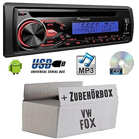 VW Fox-Pioneer deh1800ubb-Kit de montage autoradio CD/MP3/USB -