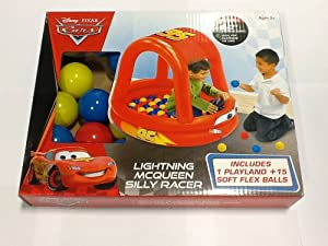 Disney Cars Ball Pool Pit Racer & 15 Soft Flex Balls
