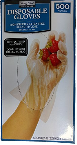 Daily Chef Disposable Gloves 500 Count (Chef Disposable Gloves compare prices)