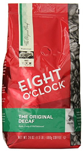 Eight O'Clock The Original Decaf Whole Bean Coffee, 24 Ounce