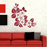 Corner Border Floral Wall Transfer /Vinyl Wall Decal / Flower Wall Sticker FL31