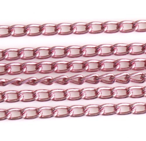 ilovediy-5m-pink-plated-aluminum-open-cable-chains-for-jewellery-making-6x4mm