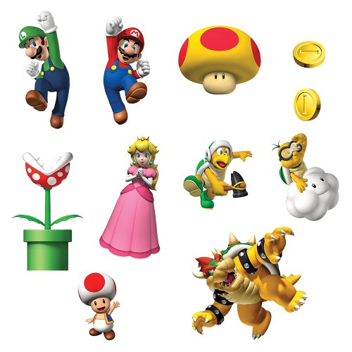 Super Mario Brothers Removable Wall Decorations