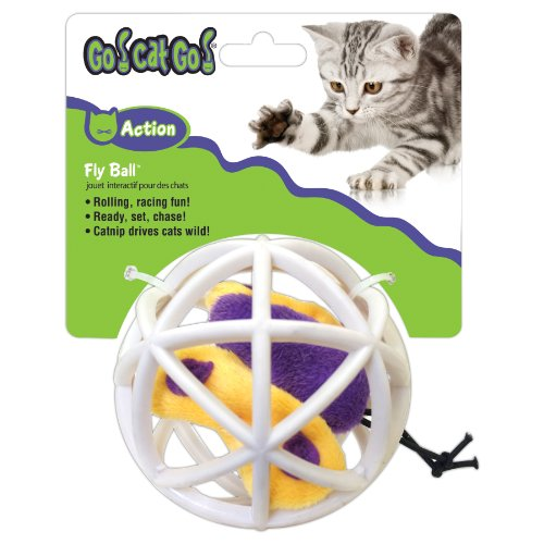 OurPets Butterfly in Cage Fly Ball Interactive Cat Toy