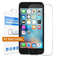 iPhone 6S Screen Protector, Maxboost® iPhone 6 6S Glass Screen Protector (4.7 inch ONLY)[3D Touch…