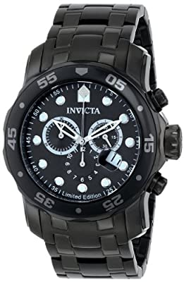 "Invicta 'Limited Edition' Men's ILE0076ASYB ""Pro Diver"" Stainless Steel Casual Watch"