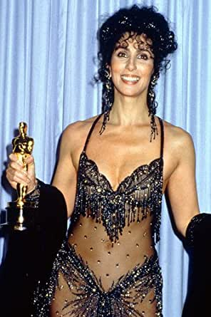 Cher Busty Color Skimpy Outfit Holding Award 24X36 Poster at Amazon's