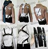 進撃の巨人 ミカサ・アッカーマン風 コスプレ衣装 女性Mサイズ 新品 完全オーダメイドも対応可能