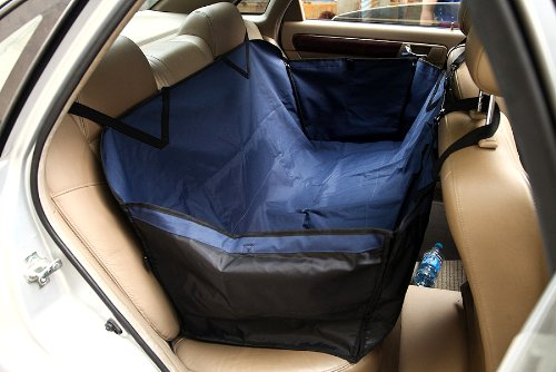 Valentina Valentti Car Dog Seat Cover Pet Waterproof Protective Cover Hammock Navy Blue front-43021