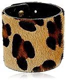 "Streets Ahead 2.5"" Italian Hair Calf Cuff Bracelet with Leopard Print"