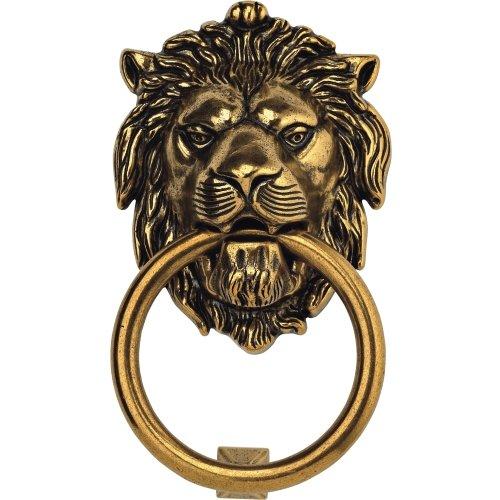 Bosetti Marella 100977.07 Brass Door Knocker, 4.29-by-7.48-Inch, Antique Brass Light 0
