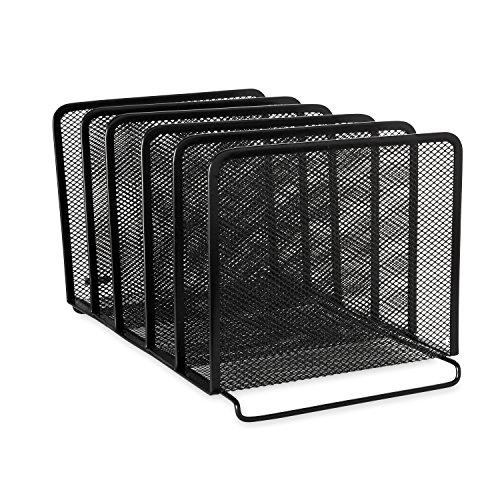 mesh-stacking-sorter-five-sections-metal-8-1-2w-x-14-1-4d-x-7-1-2h-black