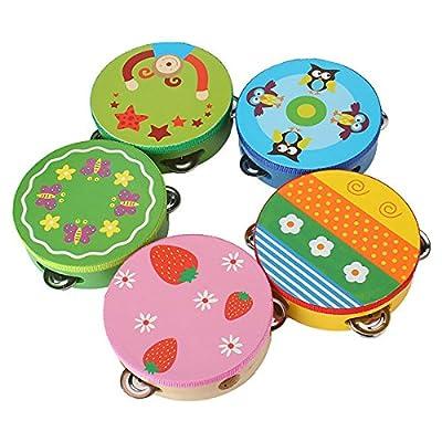 Generic Colorful Cartoon Handbell Tambourine Clap Drum Kids Toy Send One In Random