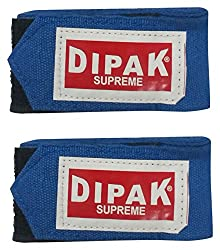 DI DIPAK Cotton Boxing Tape Wraps (150 Cm x 5 cm, 1 Pair, Blue)