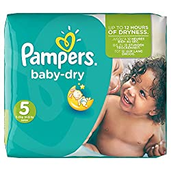 Pampers Baby Size 5 Dry Nappies Pack - 144 Nappies