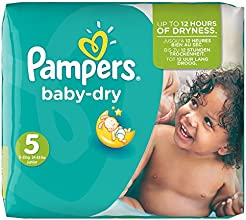 Pampers Windeln Baby Dry Gr. 5 Junior 11-25 kg Monatsbox, 1er Pack (1 x 144 Stück)