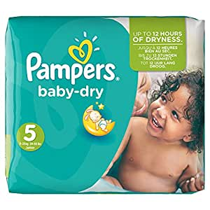 Pampers Baby Dry (Junior) Nappies Monthly Pack - Size 5 (144 Nappies)