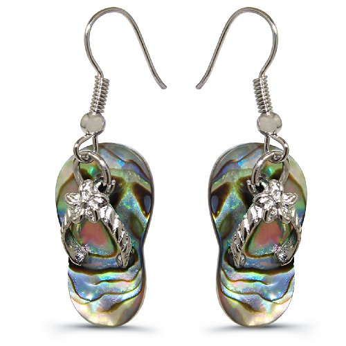 Abalone Shell Pearl - Slipper Inspired Design Earrings