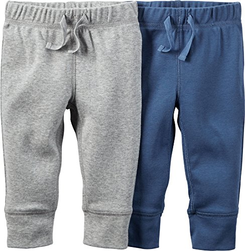 Carters Baby Boys 2-Pack Pants Navy/Grey 6M