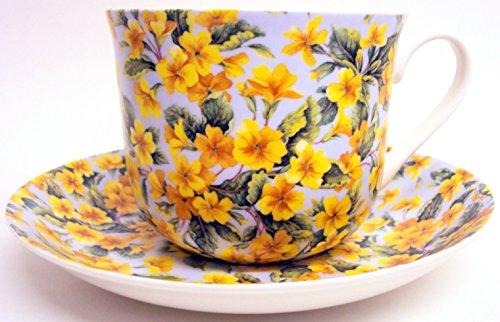Blossom Tasse et soucoupe pour petit déjeuner en porcelaine anglaise Grand Blossom fleurs tasse & Soucoupe décorée à la main au Royaume-Uni Livraison