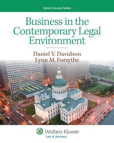 business-in-the-contemporary-legal-environment-aspen-college-series-by-daniel-v-davidson-lynn-m-fors