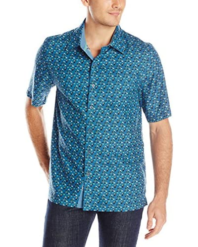Nat Nast Men's Ritts Digital Silk Print Shirt