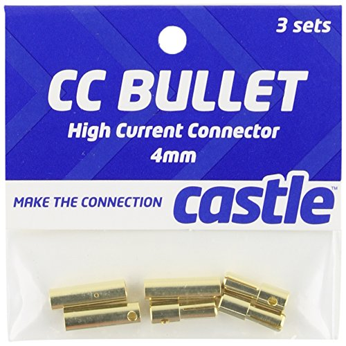 Castle Creations CCBUL4X3 4mm Bullet Connector 16G/13G 75A (3) - 1