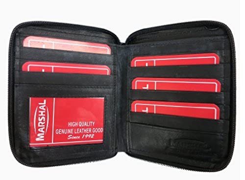08. Mens Leather Zippered Wallet