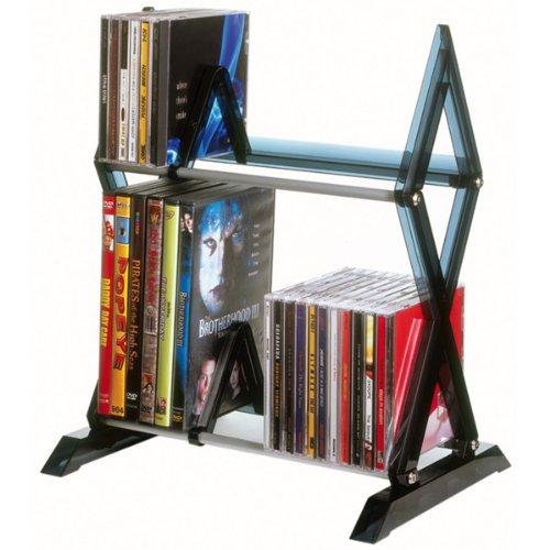 Image of NEW 56-CD or 36-DVD/Blu-ray, 2-Tier Mitsu Multimedia Storage Rack (Stands Mounts & Furniture) (B0071L29KK)