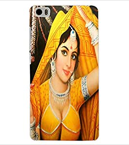 ColourCraft Lovely Lady Painting Design Back Case Cover for XIAOMI MI 5