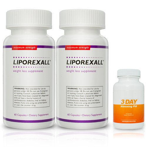 Liporexall 2 Pack and 1 Free 3 DSP - Appetite Suppressant - Appetite Suppressant and Fat Burner for Powerful Weight Loss - Best Fat Burner
