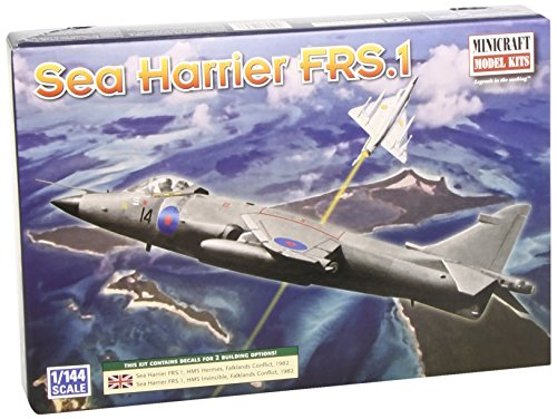 Minicraft Sea Harrier RAF with 2 Marking Options, 1/144 Scale - 1