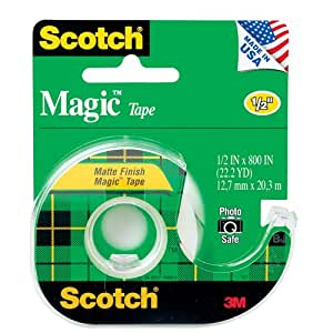Scotch 3M Magic Tape, 1/2 x 800 Inches