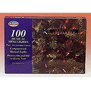 Click to buy Musical Christmas Lights: Santa's Christmas Magic Light Set 100 Ul Musical Clear 3-Pack from Amazon!