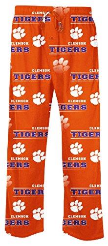 NCAA Clemson Tigers Mens Orange Fusion Pajama Pants