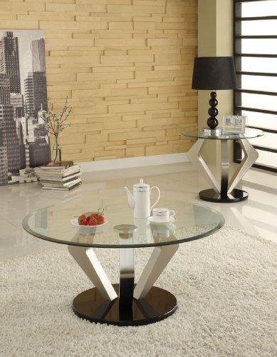 Cheap Acme 80000 Niki Glass Top Coffee Table, Chrome Finish (B0082A1BNA)