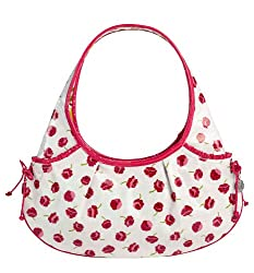 Vera Bradley Frill Collection - Tied Together Hobo Bag - Make Me Blush