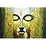 """Dolls Of India """"Face Of Lord Buddha"""" Reprint On Card Paper - Unframed (45.72 X 30.48 Centimeters)"""