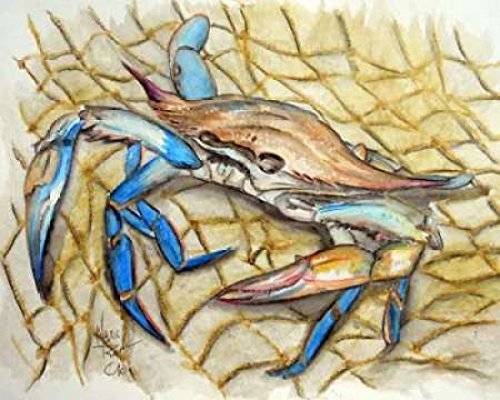 Blue Crab Poster Print by Mark Ray (24 x 30)