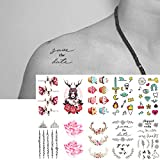 Oottati 2018 New Design Temporary Tattoo Small Sticker Set 10 Sheets T21