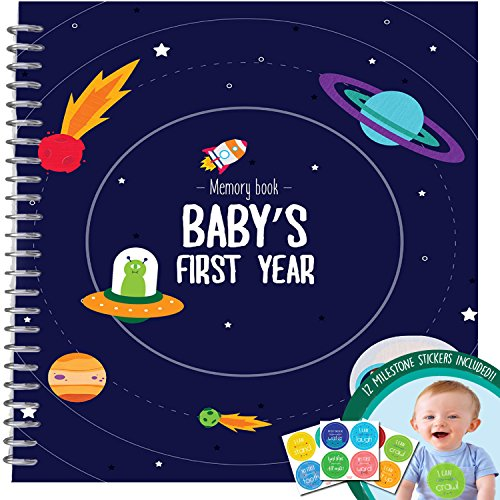 Baby's First Year Memory Book With 12 Milestone Stickers, Space Explorer Edition (Zapatos Good Year compare prices)