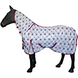Equestrian Horse Fixed Neck Cover Lightweight Summer Bug Protection Combo Sheet Fly Rug 4'6 - 7'0