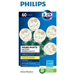 Amazon Com Philips 60ct Warm White Led Faceted Sphere