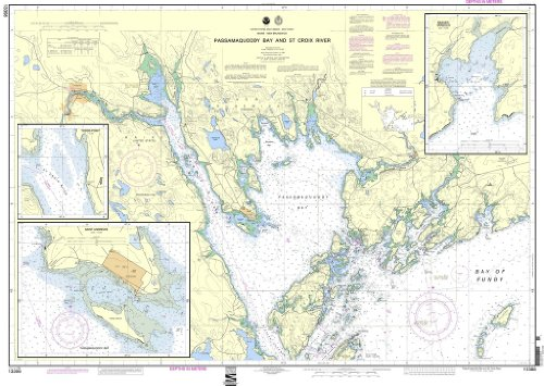 NOAA Chart 13398: Passamaquoddy Bay and St. Croix River; Beaver Harbor; Saint Andrews; Todds Point (13398 Chart compare prices)