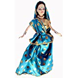 Big Deal India Cute Indian Sari Doll With Two Baby (Sky Blue)