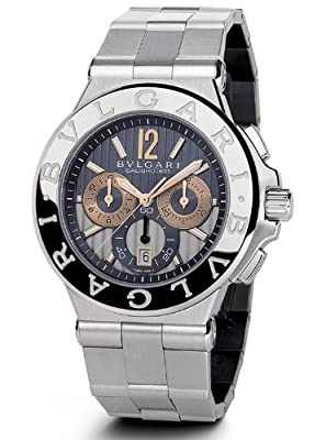 Bvlgari Diagono Anthracite Dial Chronograph Stainless Steel Automatic Mens Watch DG42C14SWGSDCH from Bvlgari
